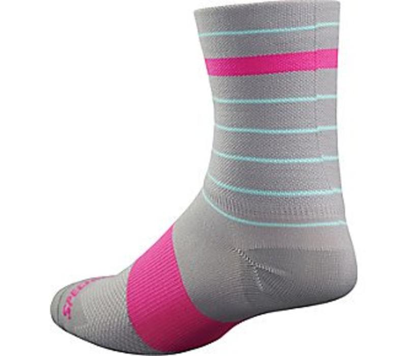 Specialized RBX Tall Sock Grey/Neon Pink