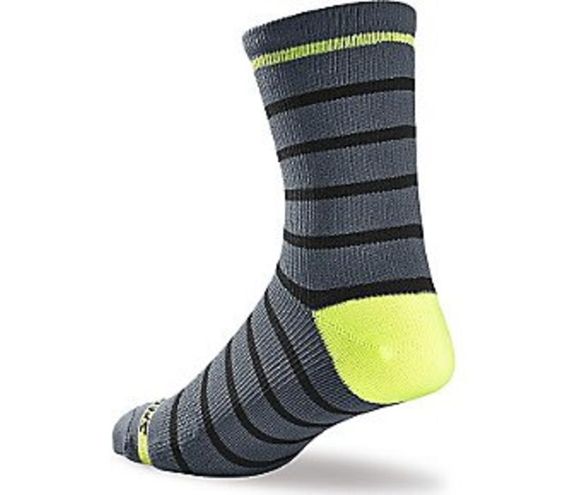 Specialized SL Tall Sock Grey/Neon Yellow