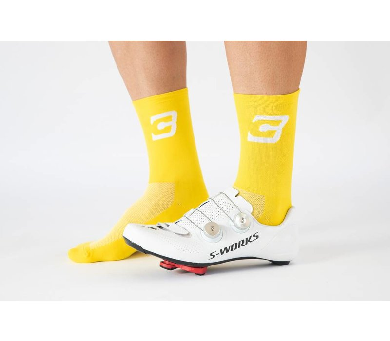 Blue Cycles Sock Yellow Fits Size 40-47
