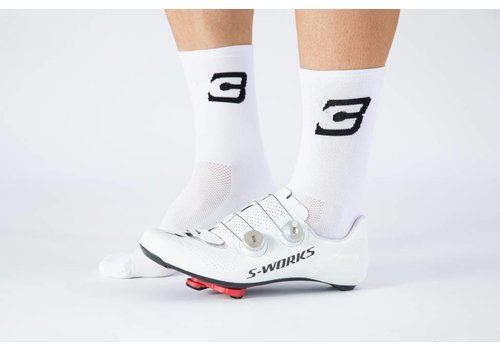 Blue Cycles Sock White Fits Size 40-47