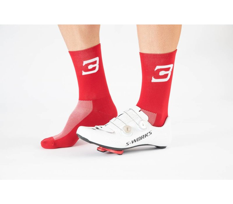 Blue Cycles Sock Red Fits Size 40-47