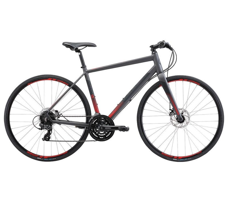 Apollo Exceed 10 Disc Charcoal Black Red