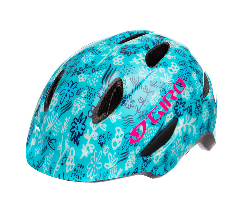 Giro Scamp Bike Helmet Blue Floral
