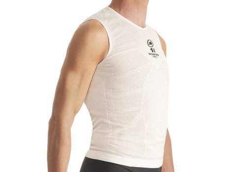 Assos Assos NS Skinfoil Insulated Sleeveless Unisex Summer Base Layer  White Size 1