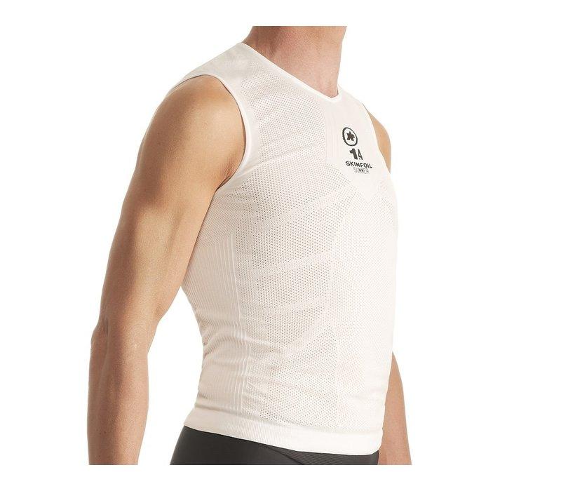 Assos NS Skinfoil Insulated Sleeveless Unisex Summer Base Layer  White Size 1