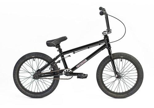 "Colony Horizon 18"" Micro Freestyle BMX Bike Gloss Black / Polished"