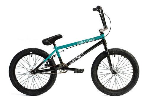 """Division Brookside 20"""" BMX Bike Black/Teal Fade"""