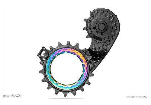 Absolute Black HOLLOWcage Ceramic Bearing Carbon Derailleur Cage for Shimano