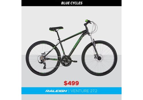 Raleigh Raleigh Venture 27.2 Mountain Bike Black/Green