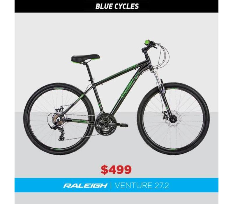 Raleigh Venture 27.2 Mountain Bike Black/Green