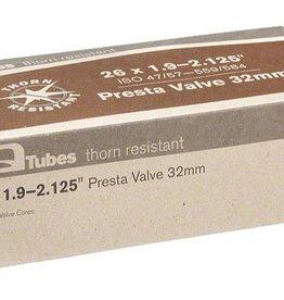 """Q-Tubes Q-Tubes Thorn Resistant 26"""" x 1.9-2.125""""  32mm Presta Valve Tube 536g"""