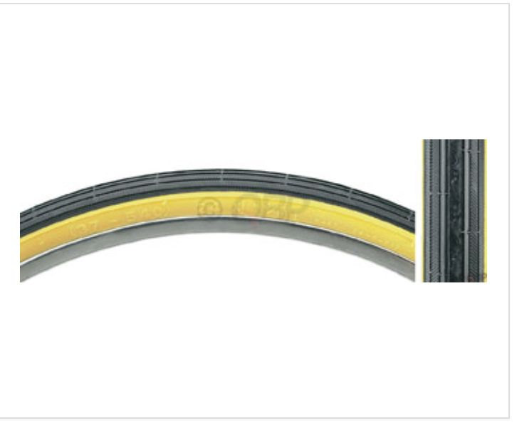 Kenda Kenda Street K40 Road Tire 24x1 3/8 Black/Tan Steel