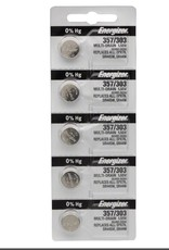 Energizer Energizer 357 / 303 Silver Oxide Multi-Drain Battery 1.55v: Card of 5