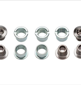 Sugino Sugino Single 6mm Chainring Bolt Set of 5, Chromed Steel