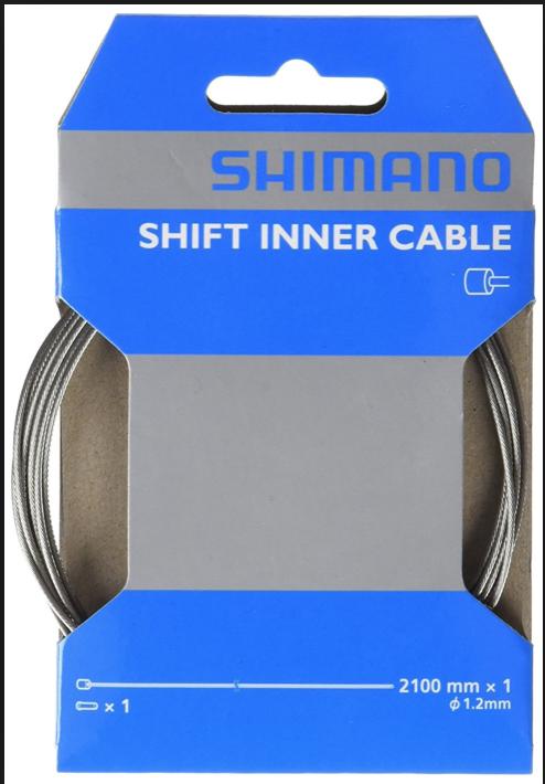 Shimano SHIMANO 1.2X2100 INNER SHIFT CABLE SHIFTER INDIVIDUAL single