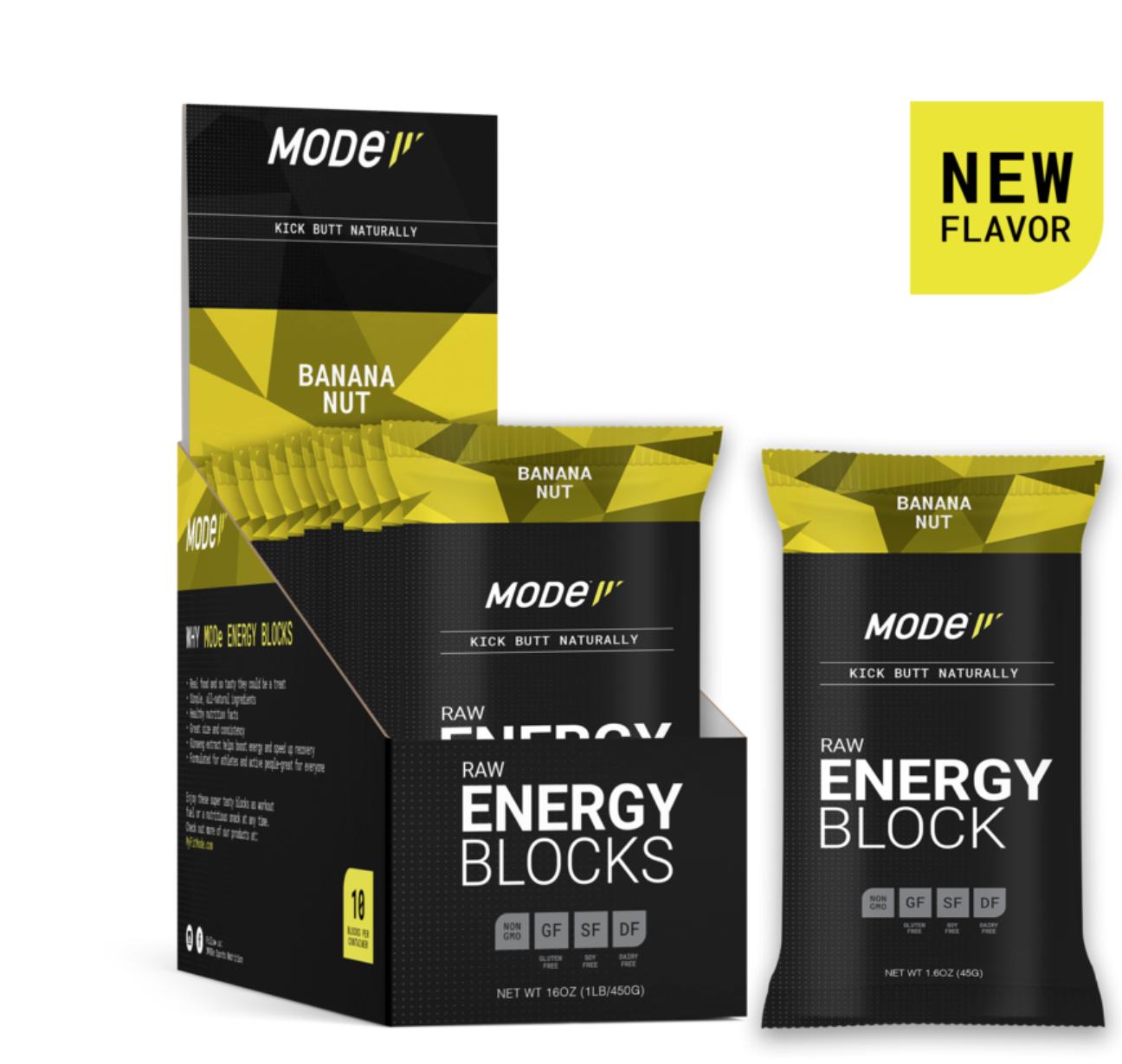 MOde Sports Nutrition Mode Raw Energy Blocks, Banana Nut, Single