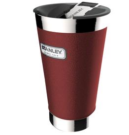 Stanley Stanley Classic Vacuum Pint Glass: Hammertone Crimson, 16oz