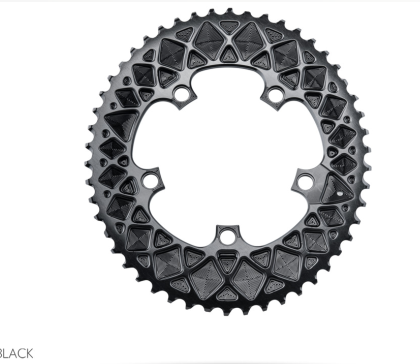 Absolute Black Absolute Black PREMIUM OVAL ROAD 110/5 BCD CHAINRING FOR SRAM