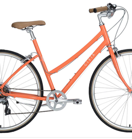 "Civia Civia Lowry 7-Speed Step-Thru Bike - 26"", Aluminum, Orange/Coconut White"