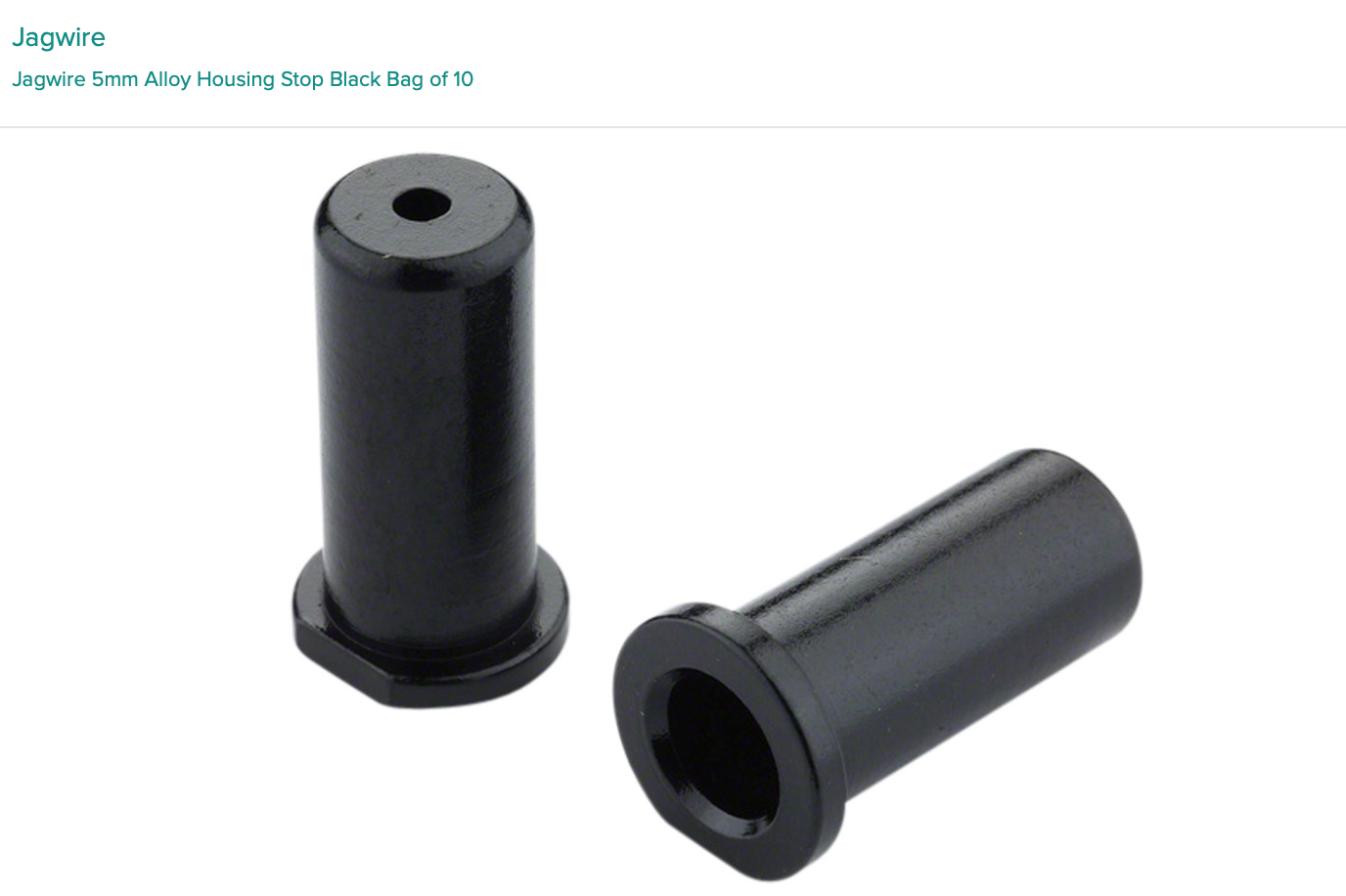 Jagwire Jagwire 5mm Alloy Housing Stop Black Bag of 10