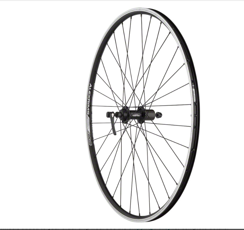 Quality Wheels Quality Wheels Value Double Wall Series Rear Wheel - 700, QR x 130mm, Rim Brake, HG 10, Black, Clincher, 10 speed wheel
