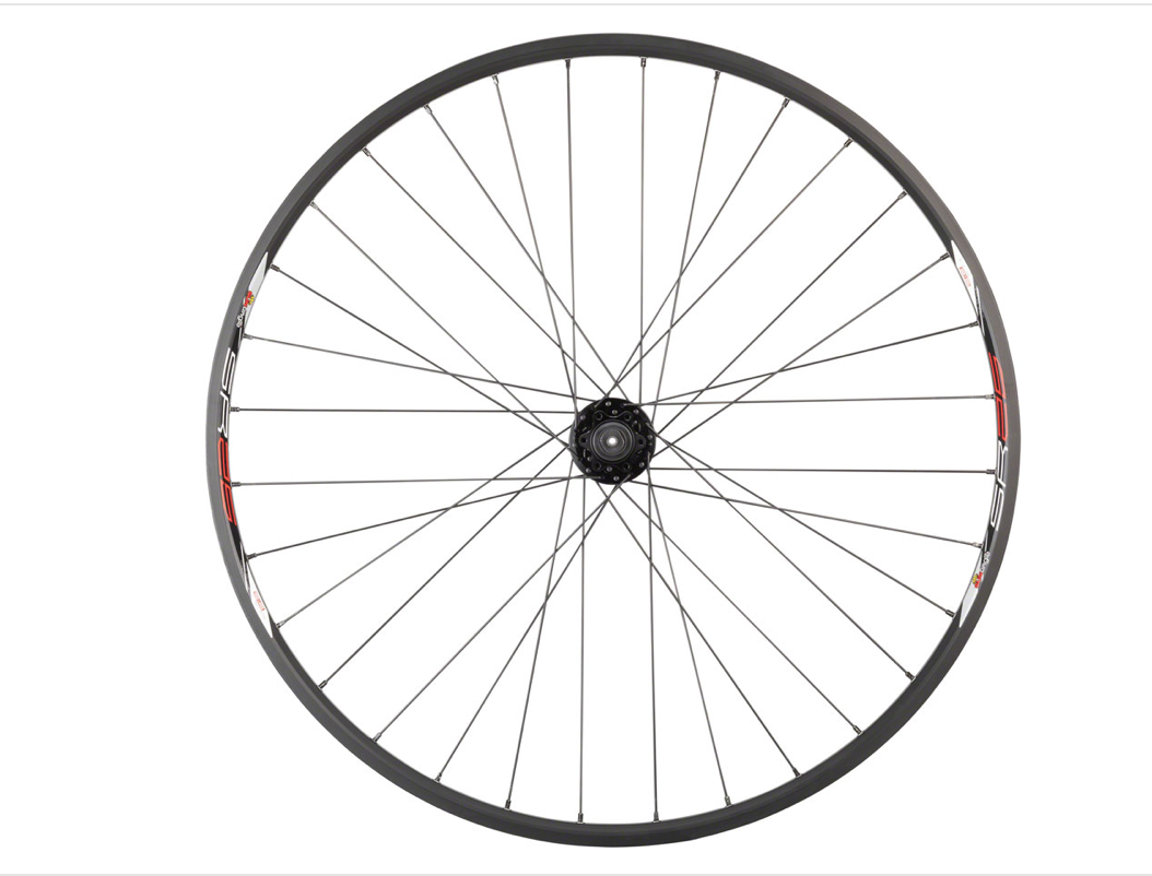 "Quality Wheels Quality Wheels Value Double Wall Series Disc Front Front Wheel - 29"", QR x 100mm, 6-Bolt, Black, Clincher"