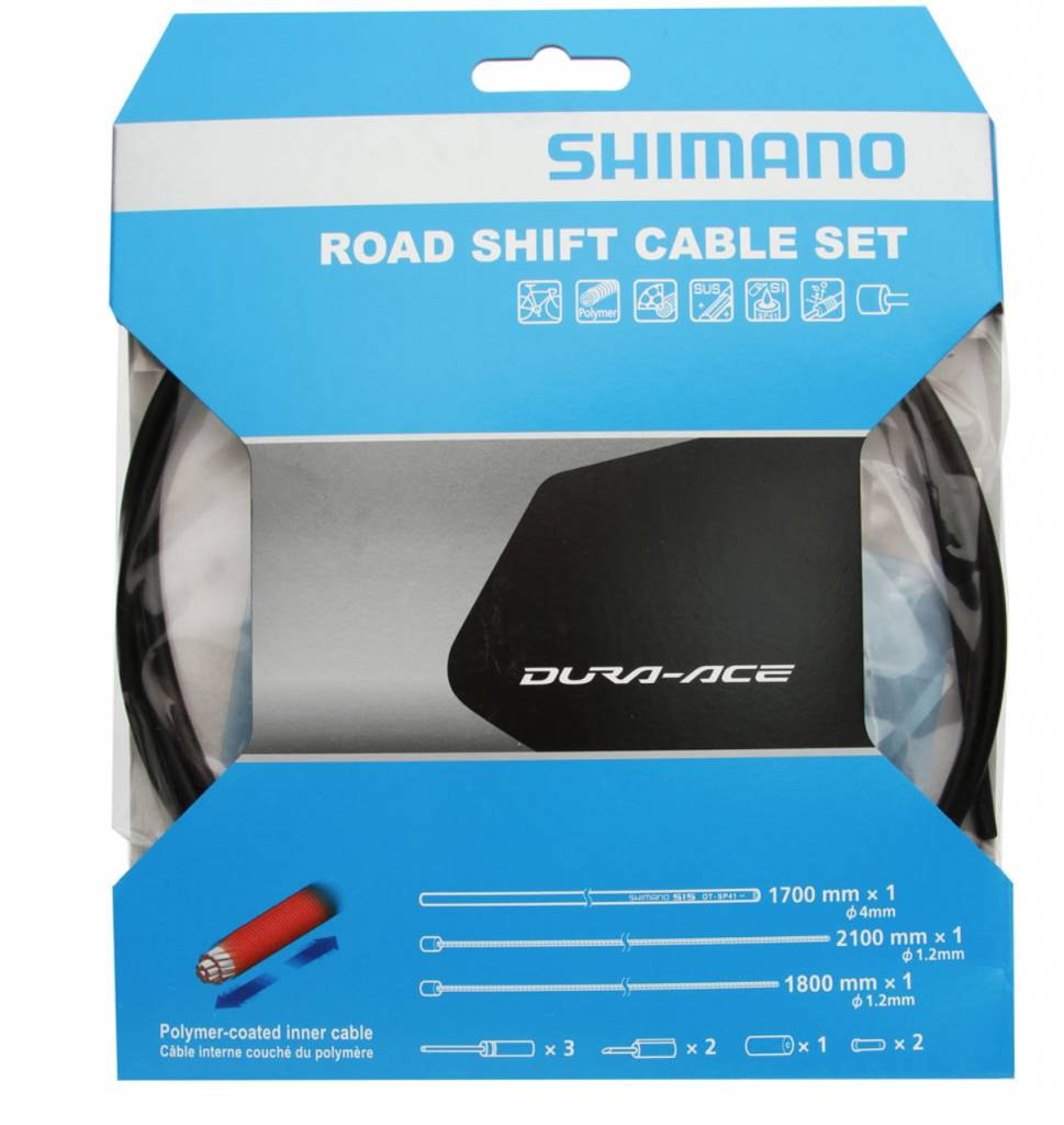 Shimano Shimano Road Shift Cable Set Dura-Ace Polymer Coated Black