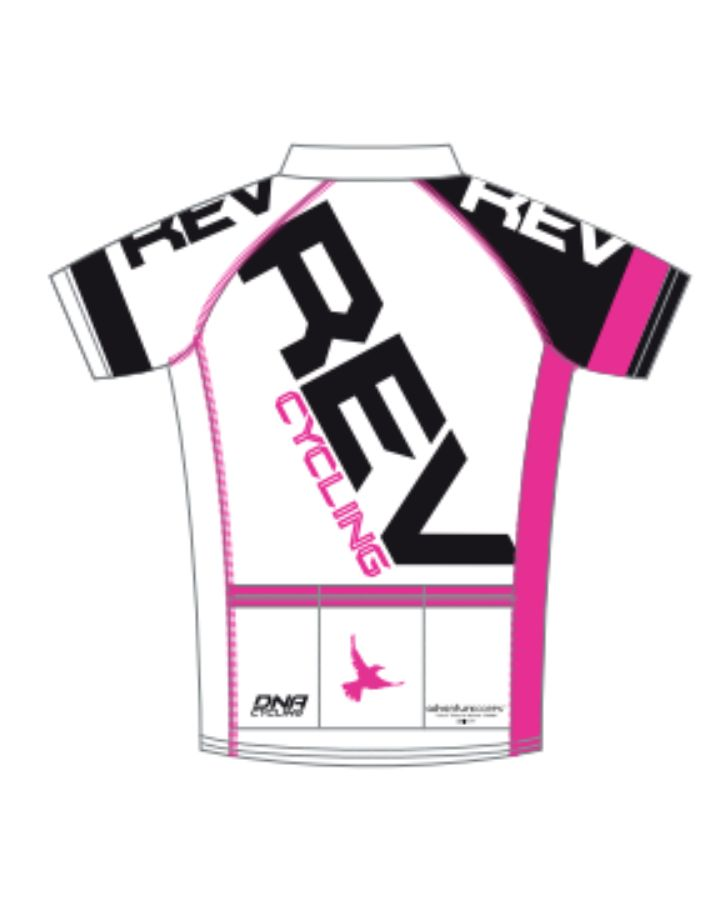 DNA REV Cycling Jersey, Men, White DNA