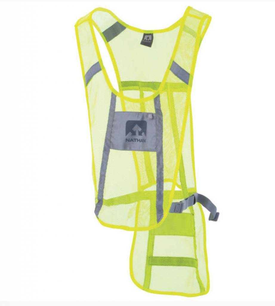 Nathan NATHAN REFLECTIVE VEST,CYCLING YELLOW/GRAY,ADJSTBLE,FITS MOST