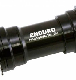 Enduro Enduro TorqTite Bottom Bracket: 386EVO to 24mm, Angular Contact Stainless Steel Bearing Black