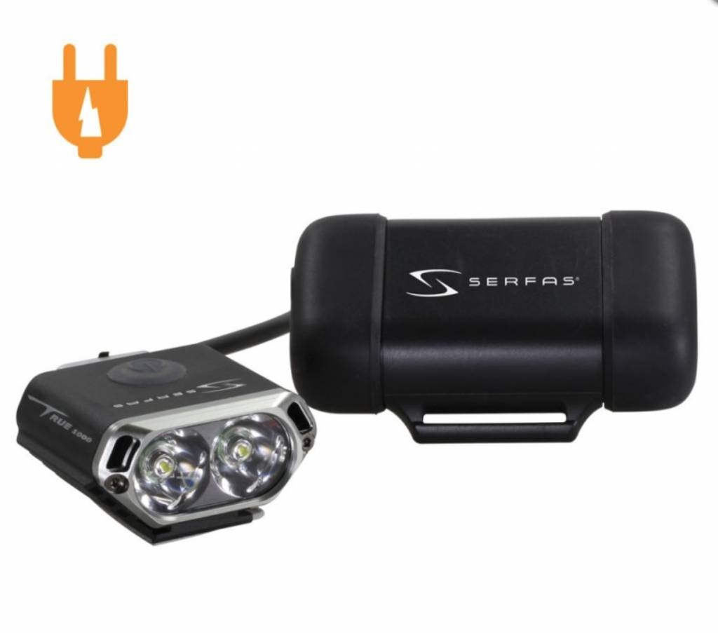 Serfas SERFAS 1000 lumen Headlight TRUE 1000 MINI HEADLIGHT W/COMPACT BATTERY