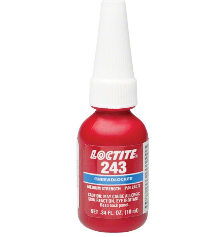 Loctite Loctite #243 Threadlocker Medium Strength for fastners 6-20mm, Oil resistant: 10ml (.34oz)