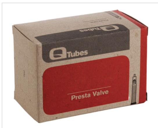 """Q-Tubes Q-Tubes 26"""" x 1.9-2.125"""" 32mm Presta Valve Inner Tube 170g"""