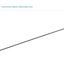 DT Swiss DT Swiss Revolution Spoke - 2.0/1.5/2.0mm, 286mm, J-Bend, Black, Each