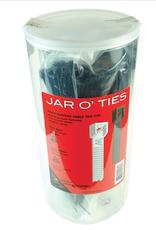Wheels Manufacturing Wheels Manufacturing Zip Ties: Black 600 pieces with POP Jar