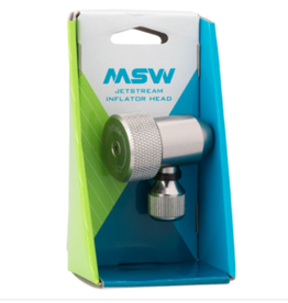 MSW MSW Jetstream Adjustable Inflation Head: Presta and Schraeder, Silver