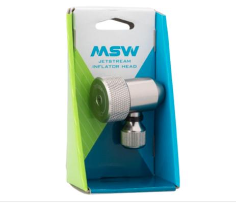 MSW MSW Jetstream Adjustable Inflation Head: Presta and Schraeder, Silver