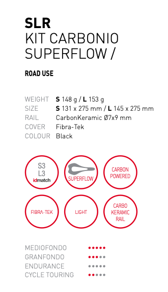 Selle Italia Selle Italia SLR Boost Kit Carbonio Superflow