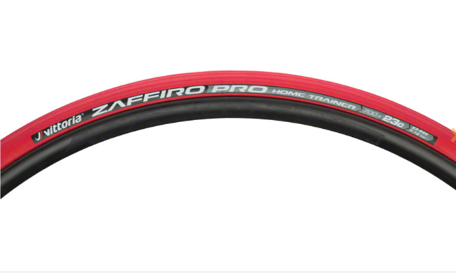 Vittoria Vittoria Zaffiro Pro Home Trainer Tire: Folding Clincher, 700x23, Red