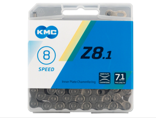 KMC KMC Z8.1 Chain - 6, 7, 8-Speed, 116 Links, Silver/Gray