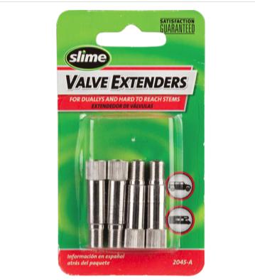 "Slime Slime 1-1/4"" Schrader Valve Extenders: 4-Pack"