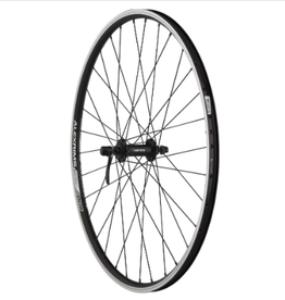 "Quality Wheels Quality Wheels Value Double Wall Series Front Wheel - 26"", QR x 100mm, Rim Brake, Black, Clincher"