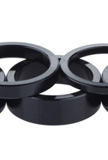 "Problem Solvers Problem Solvers Headset Stack Spacer - 25.4, 3mm (1), 5mm (1), 10mm (3), Aluminum, Black, Assorted 5 Piece Kit, 1"" spacer kit"