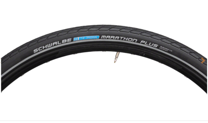 Schwalbe Schwalbe Marathon Plus Tire - 700 x 38, Clincher, Wire, Black/Reflective, Performance Line