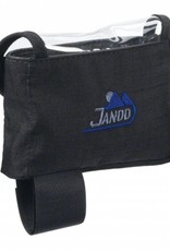 Jandd Jandd Top Tube/ Stem Bag: Clear-top with velcro closure Black Medium