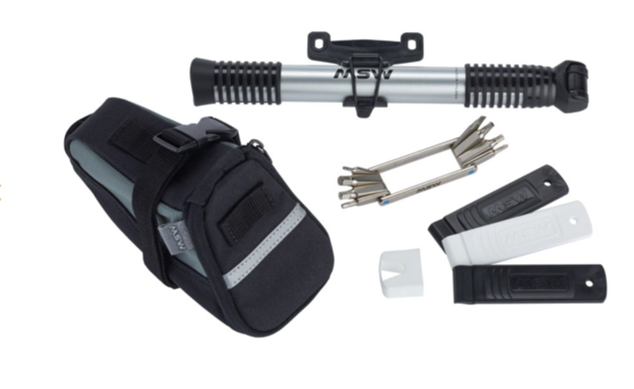 MSW MSW Ride and Repair Kit with Seatbag and Airlift Mini Pump