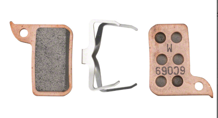 SRAM SRAM Disc Brake Pads - Sintered Compound, Steel Backed, Powerful, Monoblock, For SRAM Hydraulic Road Disc, Level A1 (2017-2019)