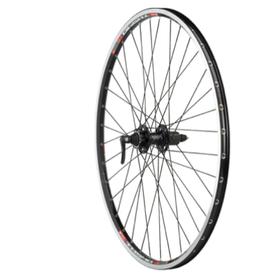 Quality Wheels Quality Wheels XT/TK540 Rear Wheel - 700, QR x 135mm, 6-Bolt Disc,Rim Brake, HG 10, Black, Clincher