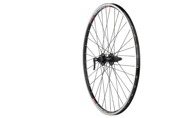 Quality Wheels Quality Wheels XT/TK540 Rear Wheel - 700, QR x 135mm, 6-Bolt Disc,Rim Brake, HG 10, Black, Clincher