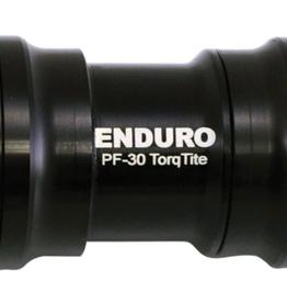 Enduro Enduro TorqTite Bottom Bracket: PF30 to 24mm, Angular Contact Stainless Steel Bearing Black